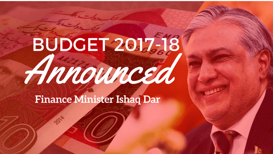 Budget 2017-18 Is Announced In National Assembly Pakistan Finance Minister Ishaq Dar