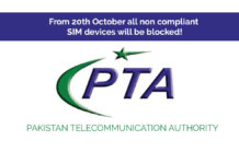 Pakistan Telecommunication Authority will block all non complaint SIM devices