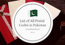 List of All Postal Codes in Pakistan - State Codes Cities Postel codes Zip Code of Lahore-min