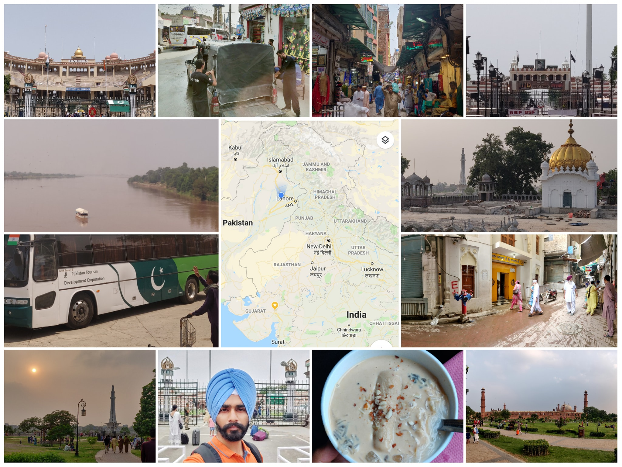 Glimpse of the visit of Snehdeep traveling from India to Pakistan